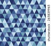 triangles geometrical seamless... | Shutterstock .eps vector #265839965