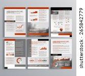 classic brochure template... | Shutterstock .eps vector #265842779