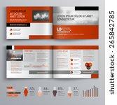 classic brochure template... | Shutterstock .eps vector #265842785