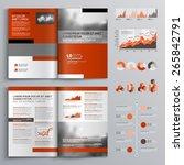 classic brochure template... | Shutterstock .eps vector #265842791