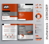 classic brochure template... | Shutterstock .eps vector #265842809