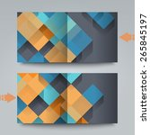 brochure template with abstract ... | Shutterstock . vector #265845197