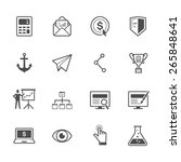 seo and internet icons | Shutterstock .eps vector #265848641