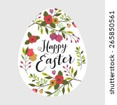 Easter Card With Egg And...