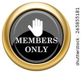 members only icon. internet... | Shutterstock .eps vector #265855181