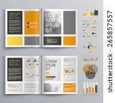 classic brochure template... | Shutterstock .eps vector #265857557