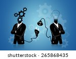 connect to idea concept | Shutterstock . vector #265868435