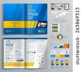 blue brochure template design... | Shutterstock .eps vector #265869515