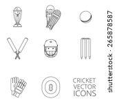 cricket equipment icons set... | Shutterstock .eps vector #265878587