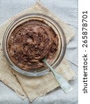 vegan avocado chocolate mousse  ... | Shutterstock . vector #265878701