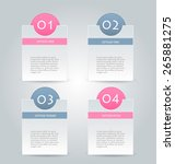 business infographics tabs... | Shutterstock .eps vector #265881275