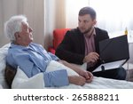 terminal patient talking with... | Shutterstock . vector #265888211