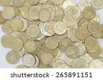 this picture shows coins | Shutterstock . vector #265891151
