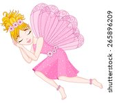 cute fairy in pink dress with... | Shutterstock .eps vector #265896209