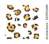 Leopard Pattern. Watercolor....