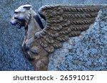 Sculpture Of Griffin   Blue...