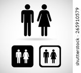 a man and a lady toilet sign ... | Shutterstock .eps vector #265910579