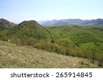 mountain landscape with meadow... | Shutterstock . vector #265914845