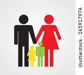happy family icon color  vector ... | Shutterstock .eps vector #265917974