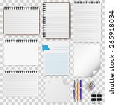 a set of stationery paper ... | Shutterstock .eps vector #265918034