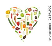 heart of fresh vegetables ... | Shutterstock . vector #26591902