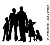 vector silhouette of a family... | Shutterstock .eps vector #265919885