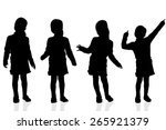 vector silhouette of a girl on... | Shutterstock .eps vector #265921379