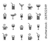 drinks icons set.