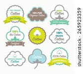 cotton certificates. labels set | Shutterstock .eps vector #265923359