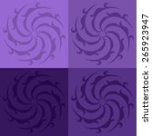 round vector ornament mandala....   Shutterstock .eps vector #265923947