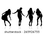 Vector Silhouette Of A Woman O...