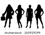 vector silhouette of a woman on ... | Shutterstock .eps vector #265929299