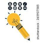 money concept design  vector... | Shutterstock .eps vector #265937585