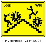 win or lose. concept sign to... | Shutterstock . vector #265943774