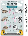 infographic food cat   dog | Shutterstock .eps vector #265945415