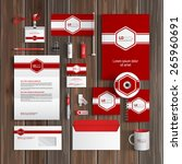 red classic corporate identity... | Shutterstock .eps vector #265960691