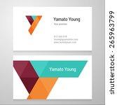 modern letter y business card...   Shutterstock .eps vector #265963799