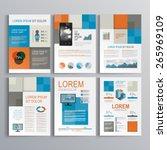 checkered brochure template... | Shutterstock .eps vector #265969109