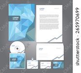 corporate identity template.... | Shutterstock .eps vector #265970699