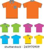 vector set of  polo shirts ... | Shutterstock .eps vector #265970909