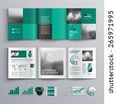 checkered green brochure... | Shutterstock .eps vector #265971995