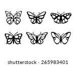 Stock vector butterfly icons set 265983401