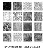 vector texture by ink pen.... | Shutterstock .eps vector #265992185