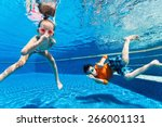 kids having fun playing... | Shutterstock . vector #266001131