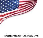 american flag on plain... | Shutterstock . vector #266007395