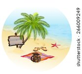 Tropic Island  Sand Beach And...