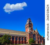 Stock photo harvard university historic building in cambridge at massachusetts usa 266018624