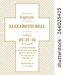 baptism invitation card design... | Shutterstock .eps vector #266025425