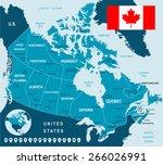 map of canada | Shutterstock .eps vector #266026991