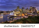 Sydney Harbour And City Cbd At...